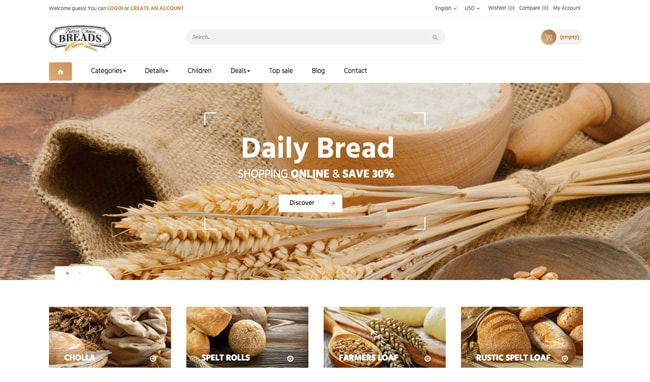 prestashop bread