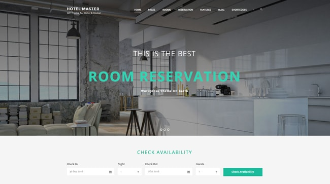 wordpress themeforest hotel